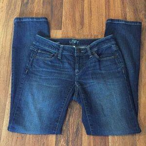 LOFT Jeans size 24/00P curvy straight